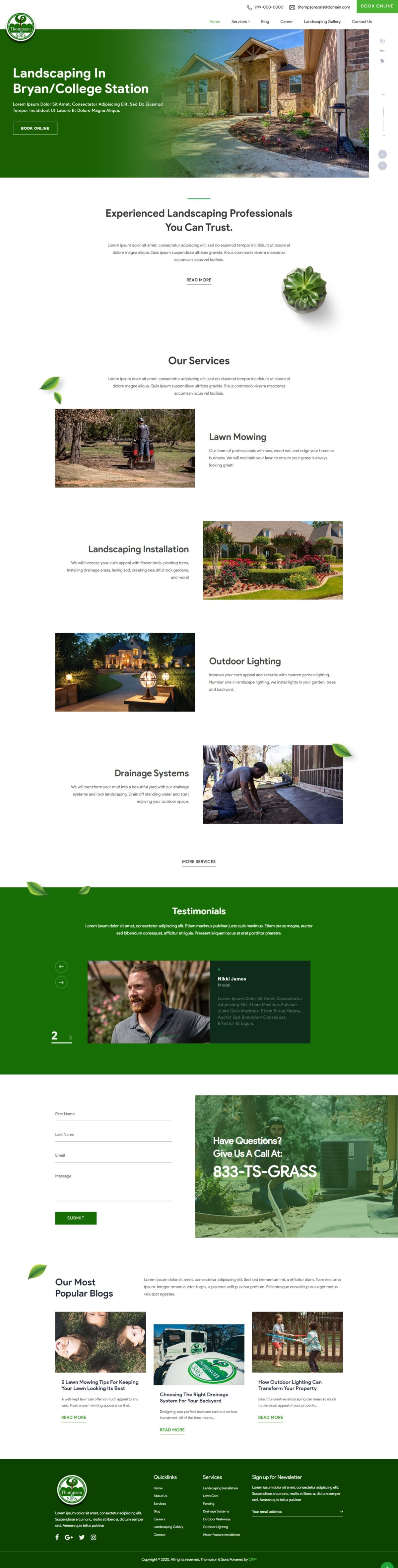 Landscaping in Bryan/College Station